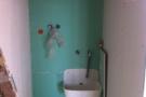 Wo jetzt noch ein Bau-Waschbecken hängt, ist morgen schon die neue Büro-Dusche