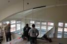 Glaseinbau 8. Etage