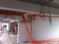 Kabelverlegung obere Etage