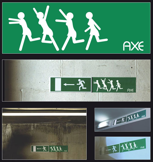Axe Emergency Exit Sign