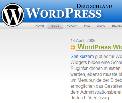 wordpress widget blog