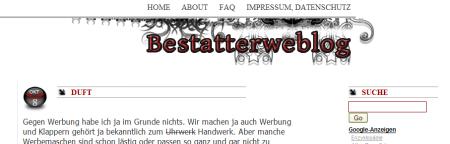 bestattung weblog blog bestatter