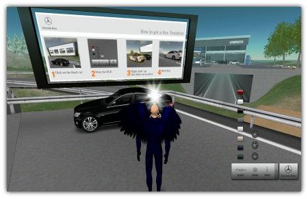 Probefahrt in Second Life