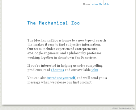 The Mechanical Zoo