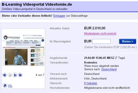 Videotomie bei ebay