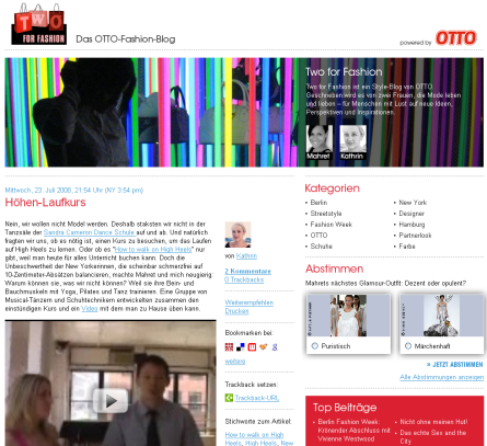 Screenshot Otto Blog