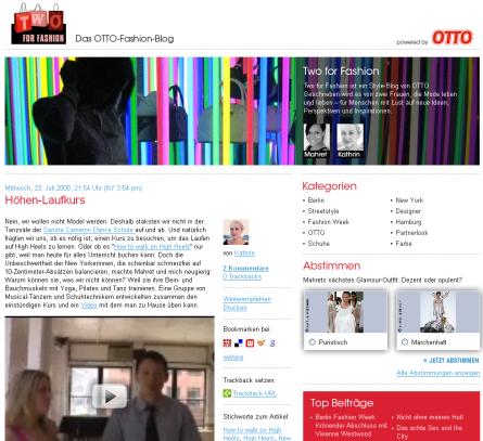 Screenshot Otto Blog
