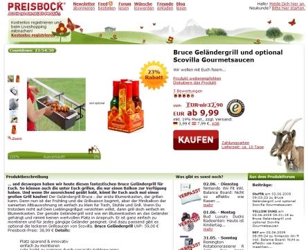 Preisbock Webdesign