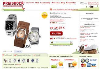 Preisbock.de am 10.8.2010