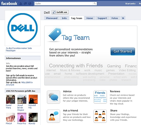Dell Fanpage Facebook