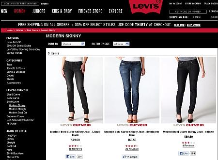 Levis Online Shop