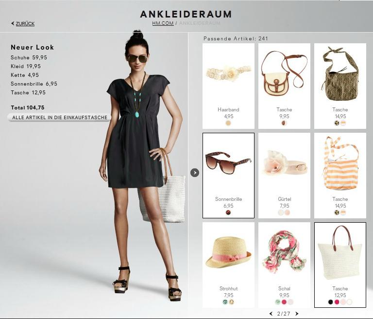 Der H&M Ankleideraum