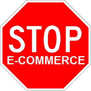 Stop E-Commerce Sign