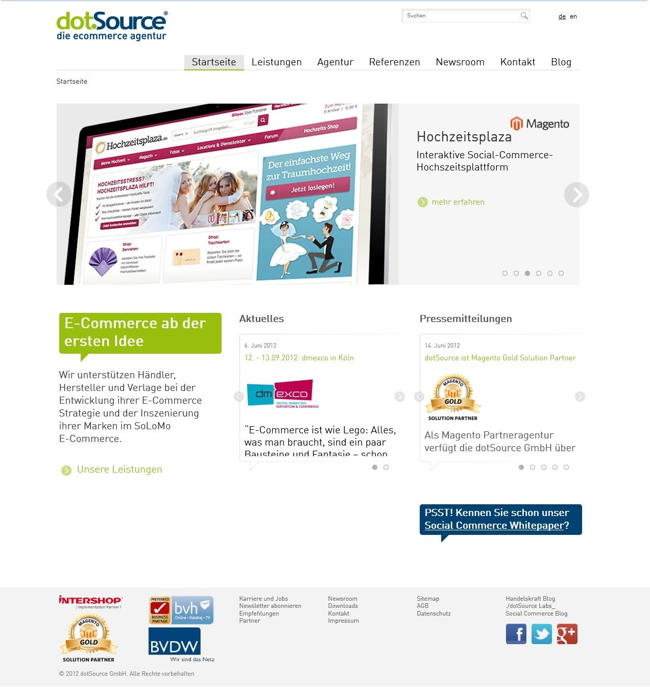 In eigener Sache: Die neue dotSource Website ist live!