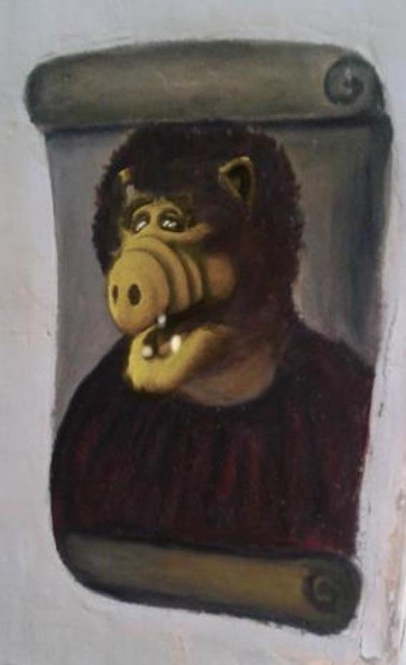 Jesus Fresko in Spanien verunstaltet - Alf Meme