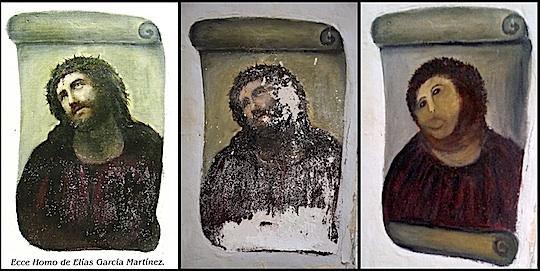Ecce homo Fresko in Spanien