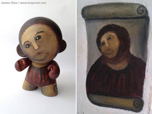 Figur zur unglücklichen Jesus Gemälde Restauration