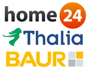 Home24, Thalia, Baur Logos