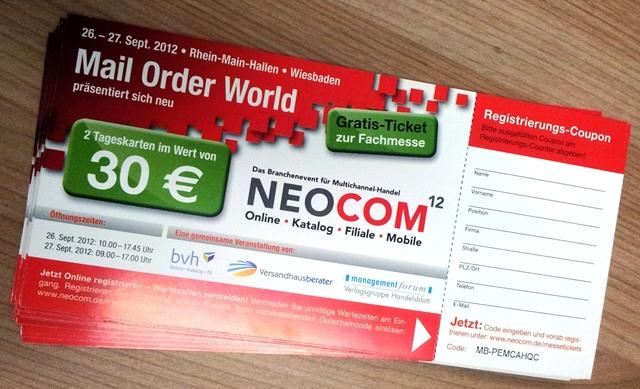 Versandhandelsmesse 2012 Tickets