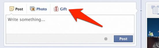 Facebook Gifts Symbol auf der Timeline