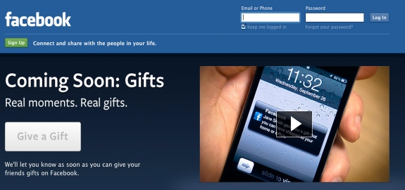 Coming soon: Facebook Gifts