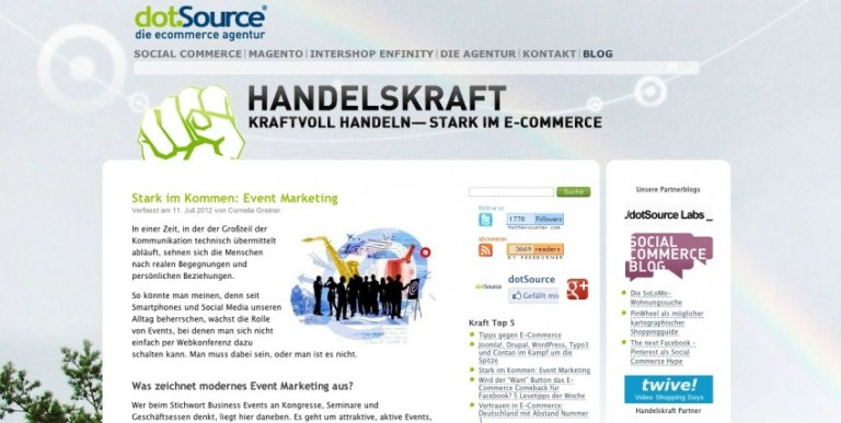 Redesign vom E-Commerce Handelskraft ist live