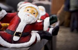 Weihnachtsmann Santa Christmas Shopping