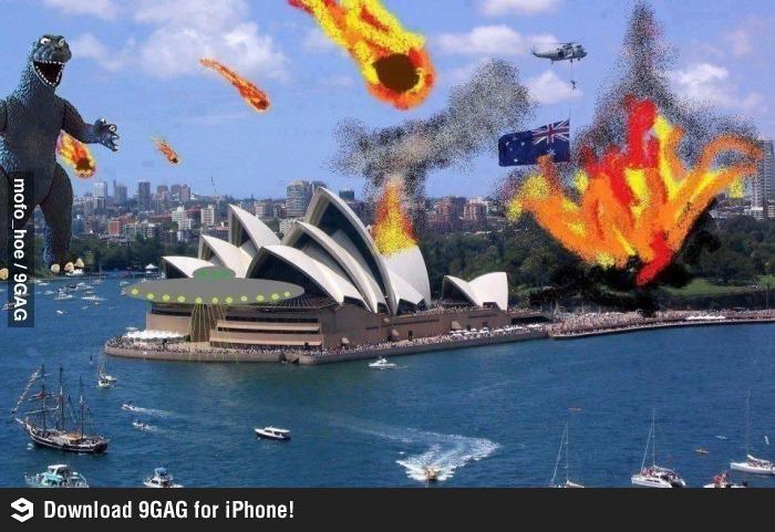Weltuntergang beginnt in Australien