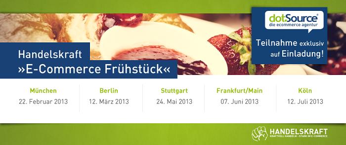 Nächste Woche startet unser E-Commerce Frühstück in München
