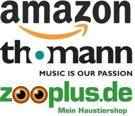 Amazon, Thomann und zooplus sind die beliebtesten Onlineshops