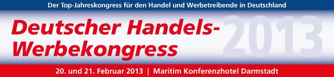 Deutscher Handelswerbekongress 2013 in Darmstadt