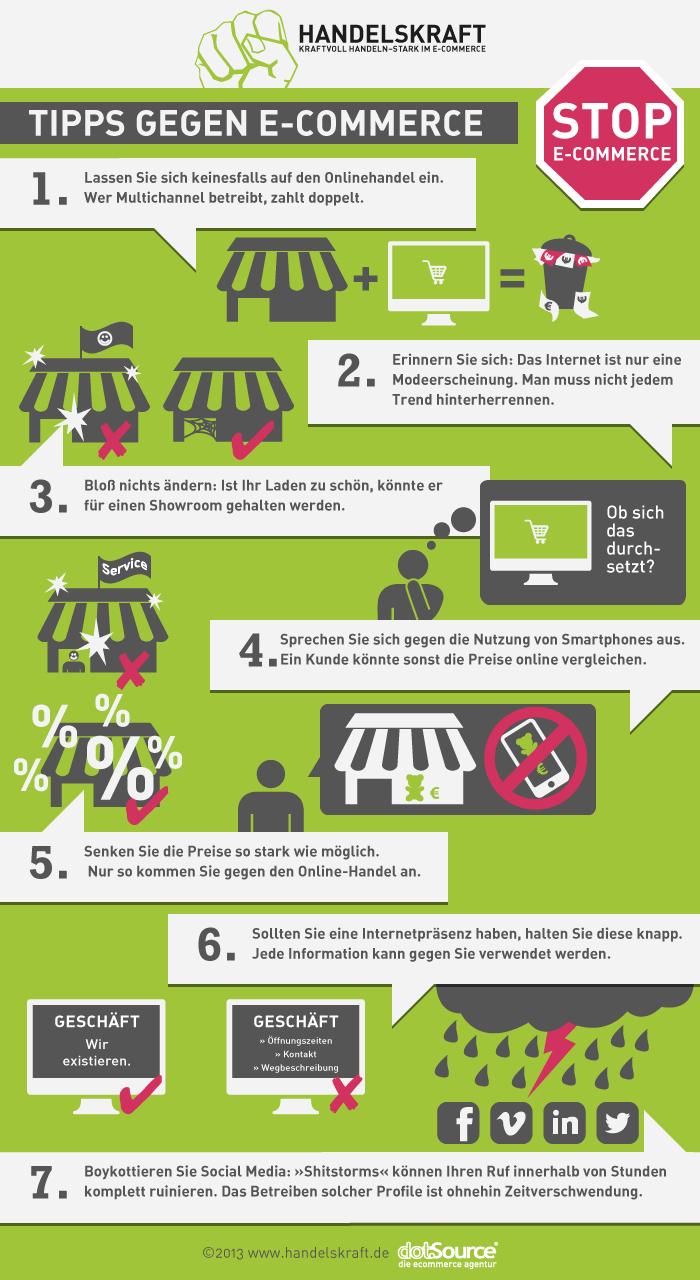 Tipps gegen E-Commerce