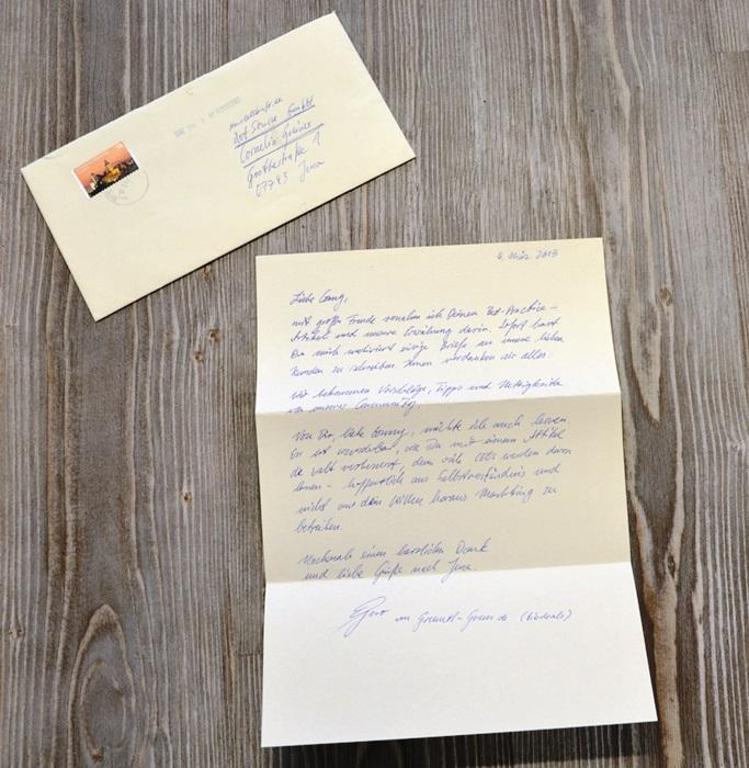 Biodeals beglückt die Handelskraft Redaktion mit einem handschriftlichen Brief