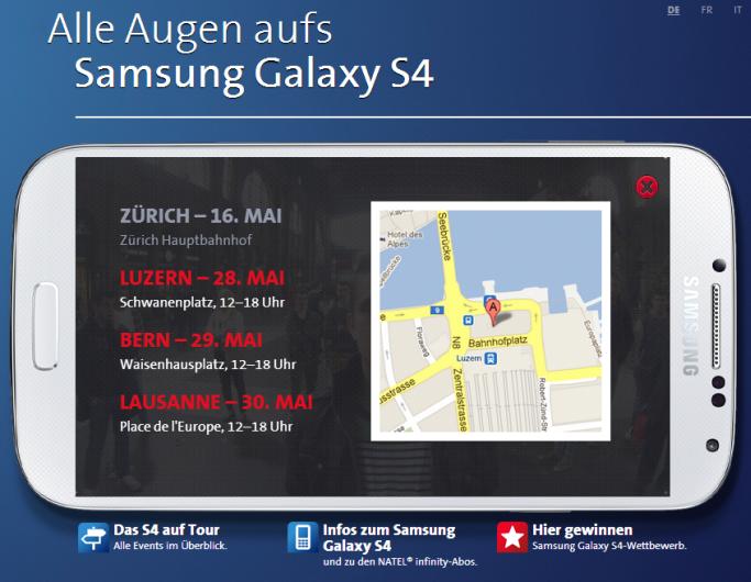Samsung Staredown Contest in der Schweiz