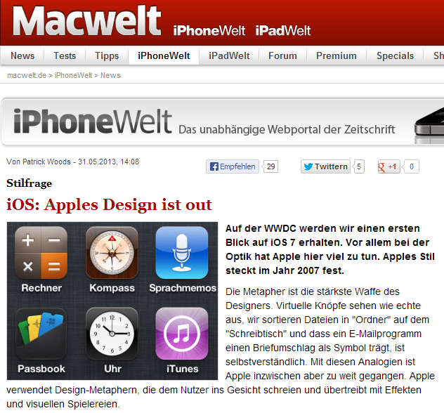 Macwelt: Kritik an Apple