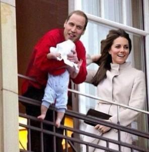 Willi und Kate stellen das Baby vor - Michael Jackson Style