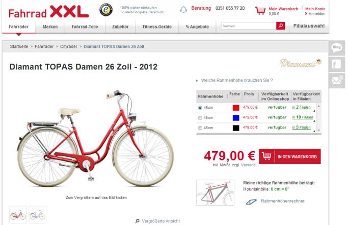 Fahrrad XXL Screenshot