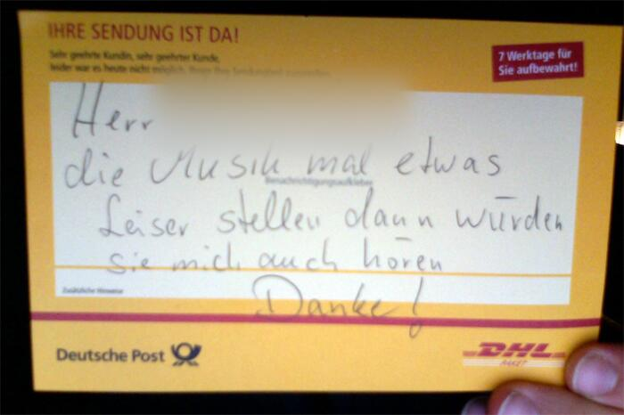 Paket-Zustellung Fail DHL