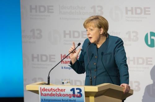 Bundeskanzlerin Merkel auf dem Deutschen Handelskongress 2013
