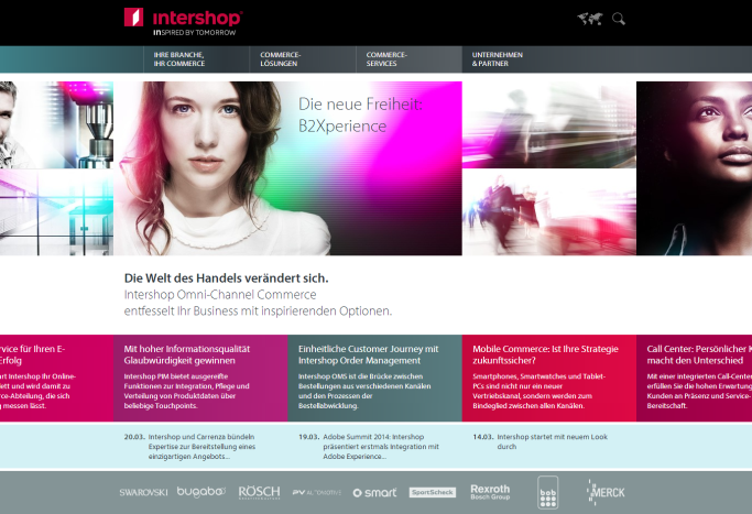 Intershop Homepage 2014