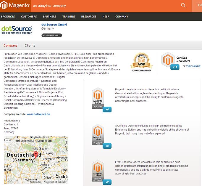dotSource Magento-Profil