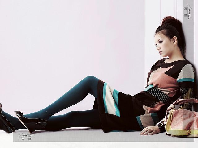 Traurig dreinblickendes Model. Schema SS+L von Peer Hartog. Foto von Chung Shao Tung