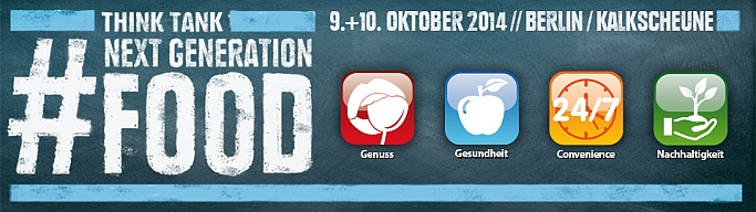 Next Generation Food geht am 10.10.2014 in die zweite Runde