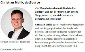 Shopsystem-Auswahl: dotSource CEO Christian Malik im t3n-Interview