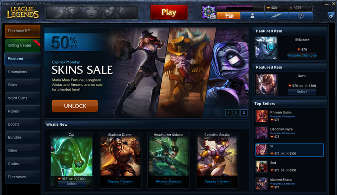 Ingame-Store von League of Legends