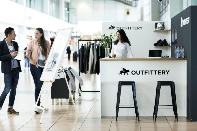 Outfittery POS am Flughafen