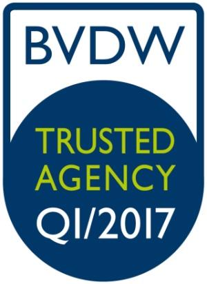 Wir sind erneut »Trusted Agency« – BVDW vergibt wieder Gütesiegel für Full-Service-Digitalagenturen