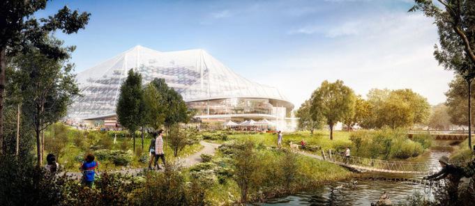 Konzept eines neuen Hauptgebäudes