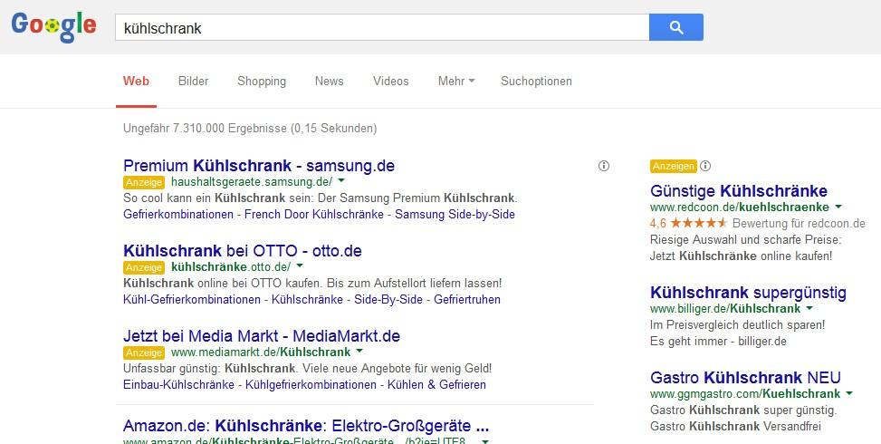 Suchergebnis für generischen Suchbegriff mit relevanten Treffern