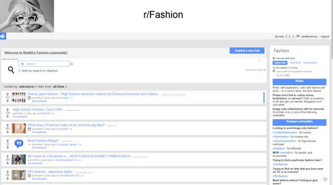 Subreddit Fashion